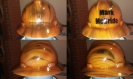 custom hard hat wood theme