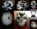 Skull full face motorcycle helmet