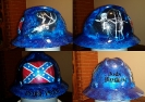 Rebel Pride bowhunting themed hard hat