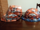 Denver Broncos welding hood and hard hat 1