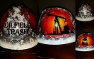 Oilfield Trash custom painted hard hat